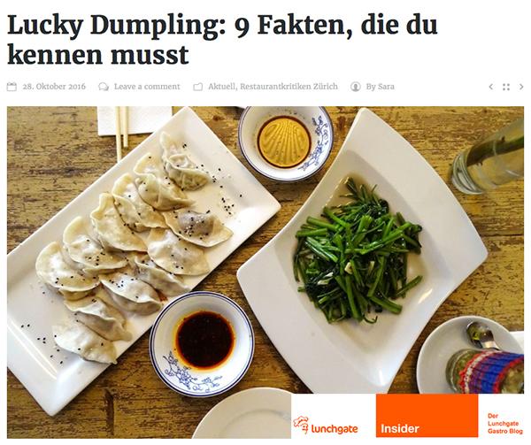 Lucky Dumpling im Lunchgate Insider